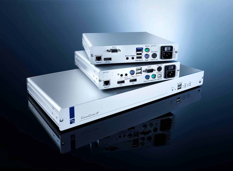 The ControlCenter-IP,  ControlCenter-Digital and the ControlCenter-Compact: G&D present three digital matrix systems.