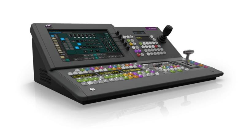 The GV Korona K-Frame switcher offers a choice between two new control surfaces, as well as a 1- or 2M/E version.