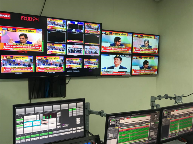 GV's iTX solution gives Republic TV a highly advanced, integrated playout platform, combining IP and SDI support for future-readiness.