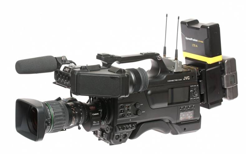 The GY-HC900 can be networked to multiple devices and cameras and also serve as a hotspot for live transmission during breaking stories.