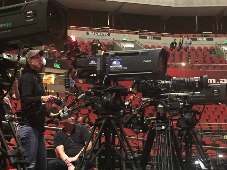 Gearhouse Broadcast at Madonna's Rebel Heart tour concert at Sydney's Qudos Bank Arena.