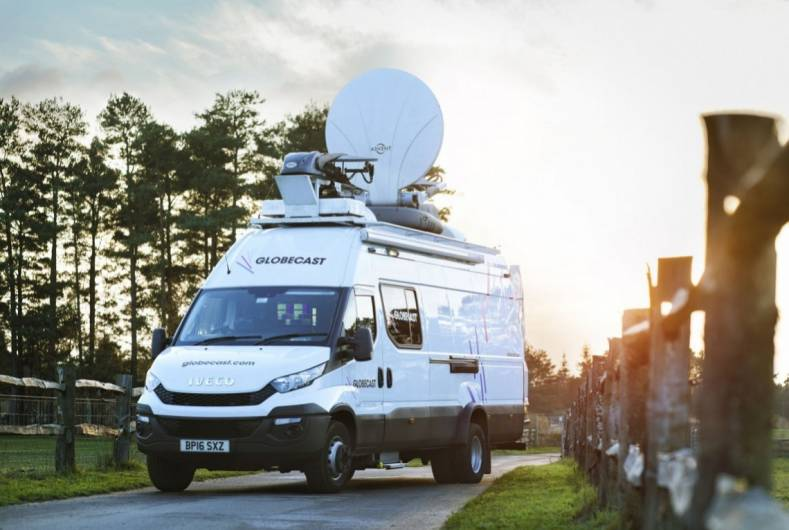 Globecast offers a range of contribution solutions, including the M'ICar, a hybrid of cellular bonding and Ka-band satellite connectivity.