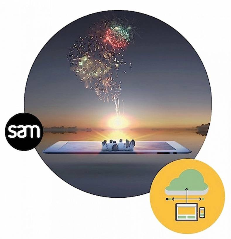 SAM's Go! edit system enables mobile editing anywhere that has internet access.