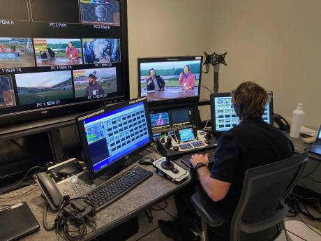 Remotely controlled operations helped broadcasters resume live sports coverage despite strict safety measures.