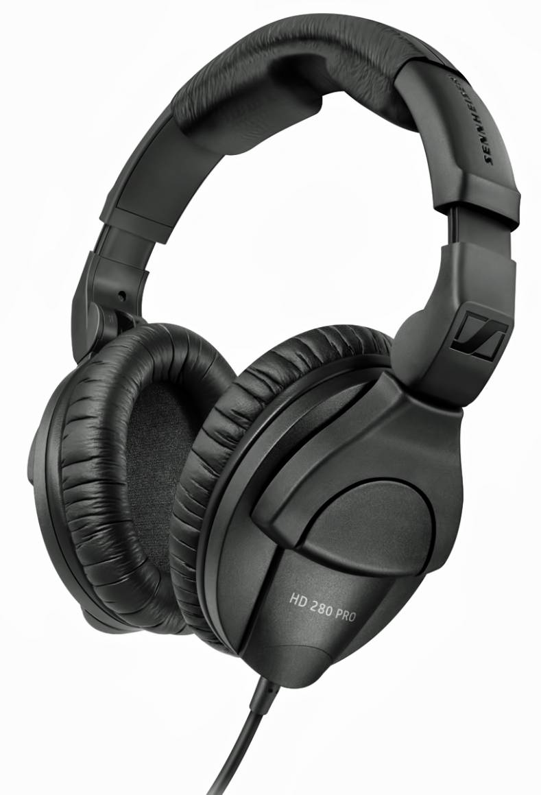 Sennheiser HD 280 PRO monitoring headphones.