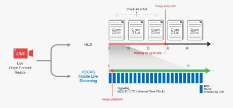 The HECAS MLS technology guarantees real-time end-to-end delivery of live videos on mobile networks.
