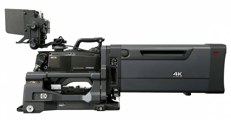 he Hitachi SK-UHD4000 4K UHD camera system now offers optional firmware to enhance simultaneous HDR and SDR production.