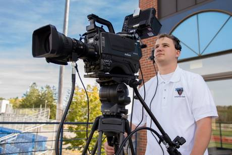 Eric Wiater, Universtity of Maine, with one of their new Hitachi Z-HD5000 cameras.