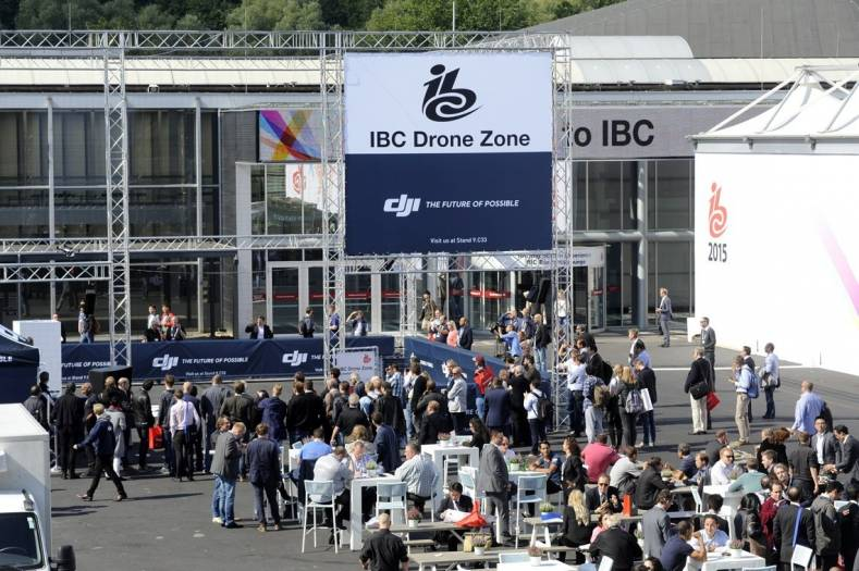 The drone zone was a popular attraction at IBC. Image courtesy IBC.