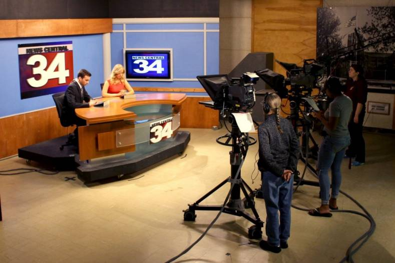 LiveU live shots at CMU News Channel 34 increase program relevance and give students hands-on, live-TV news production experiences.