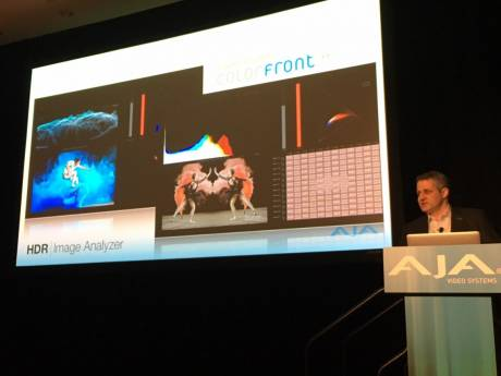 AJA previewed a new HDR Image Analyzer they are developing with Colorfront during their Monday press conference.