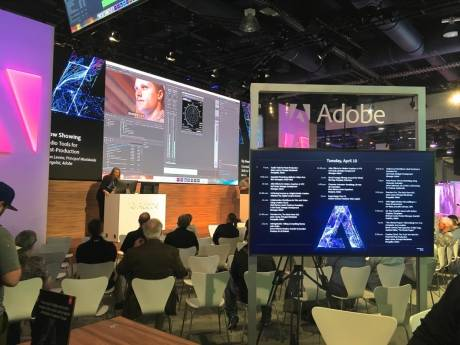 Adobe partnered with systems from over 52 companies at its own booth.