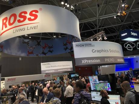 The Ross Video exhibit at IBC 2019 was always crowded because they have branched into so many aspects of production.