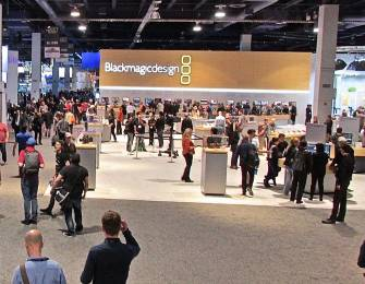 The Blackmagic Design exhibit dominated the NAB floor as they have grown to dominate cost-efficient production gear.