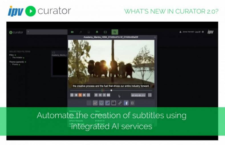 Intelligent automation of subtitles in Curator.
