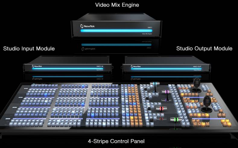 NewTek IP series combines with Vizrt's VizMosart studio automation system.