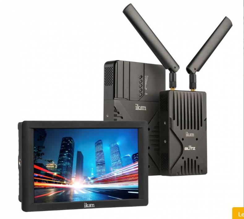 Ikan Blitz wireless systems provide uncompressed video monitoring in a small lightweight package.