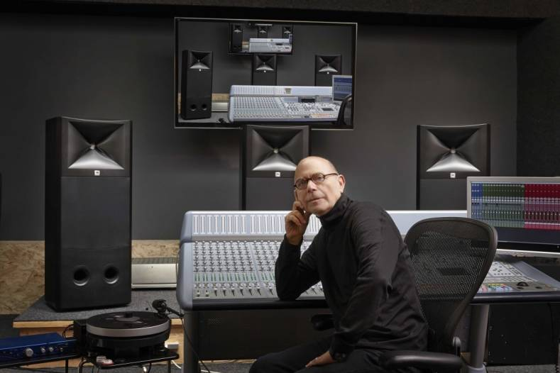 Noted audio engineer for The Doors, Bruce Botnick, relies on three JBL M2 Master Reference Monitors in his studio.
