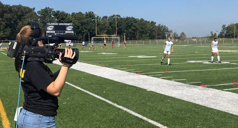 Eagle Media Productions at Clarion University is using JVC cameras to produce multi-camera sports coverage on campus.