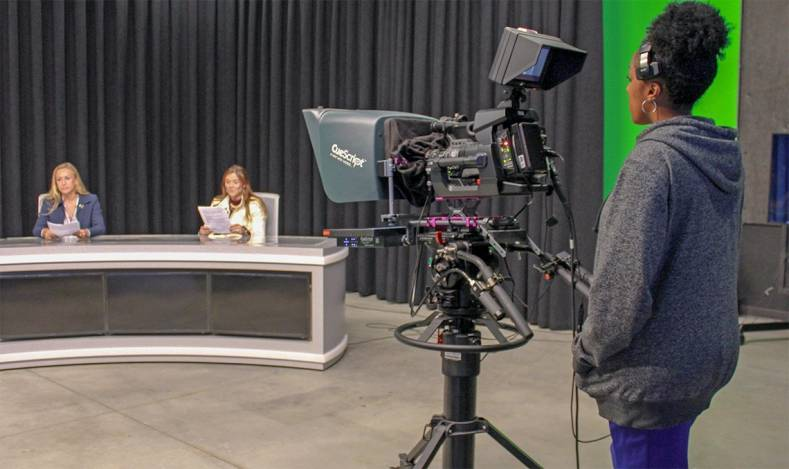 The new Center for Media and Design at Santa Monica College features three JVC GY-HM890 ProHD cameras in its production studio.