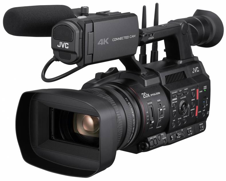 All JVC Connected Cam cameras provide bi-directional connectivity for transport of video, audio and control signals.