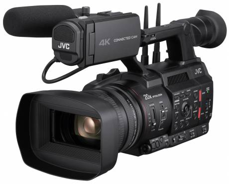 With built-in streaming and connectivity options, the 500 Series camcorders offer live low-latency distribution directly from the camera.