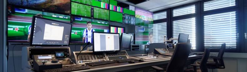 Sky Sports 4K control room. Higher-quality broadcast channels need to be supported by new immersive audio options.
