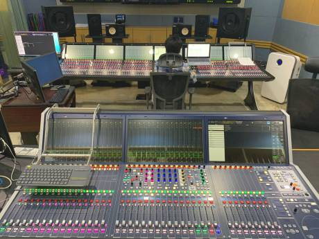 "The installation includes Lawo's mc²96 Grand Production Console and an mc²36 ""all-in-one"" console."