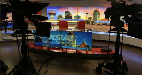 KSAT recently upgrade its studio set and is now automating production activities with Ross OverDrive software.