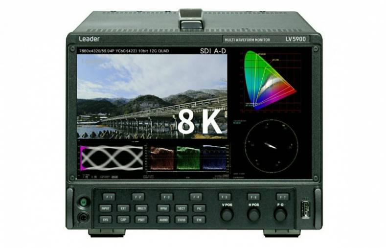 The new 8K-capable LV5900 can simultaneously display 4 inputs up to HD 3G-SDI and 4K video.