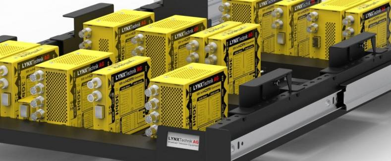 Lynx introduced a new tray version of its converter module rackframe solutions, the RFR 1218.