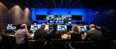 Production control room at the all-IP  DutchView cloud production facility