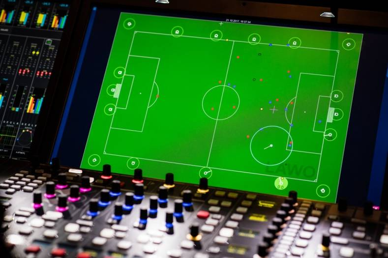 The German Bundesliga claims it is the first major sporting league to deploy automated audio mixing based on live tracking data.