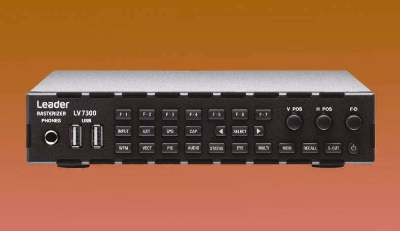 A Leader LV7300 rasterizer is the new master reference source for HD, 4K UHD, HDR and WCG content monitoring in an upgraded studio.