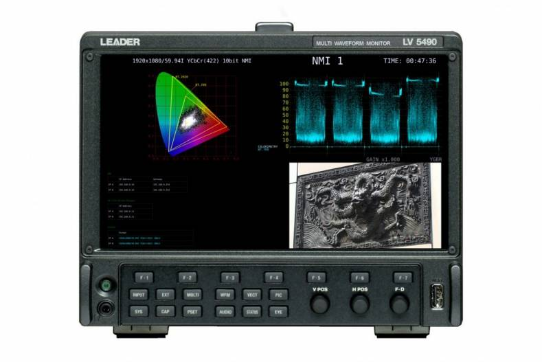 Leader's flagship LV5490 4K/HD/SD test instrument is already compatible with Sony's IP Live Studio interface.