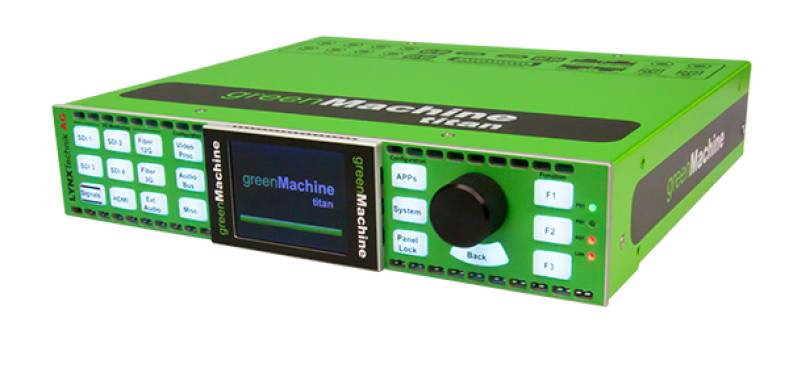The Lynx greenMachine uses software apps to smooth the migration to 4K and 8K signal processing.
