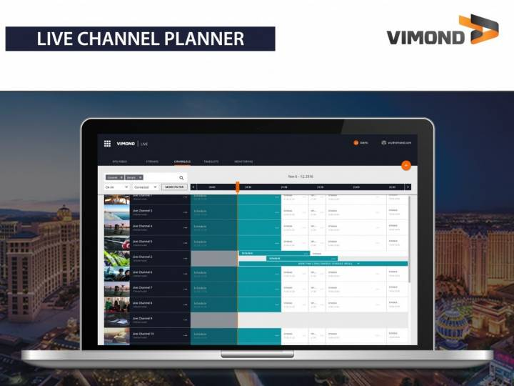 Vimond debuts live channel planner.