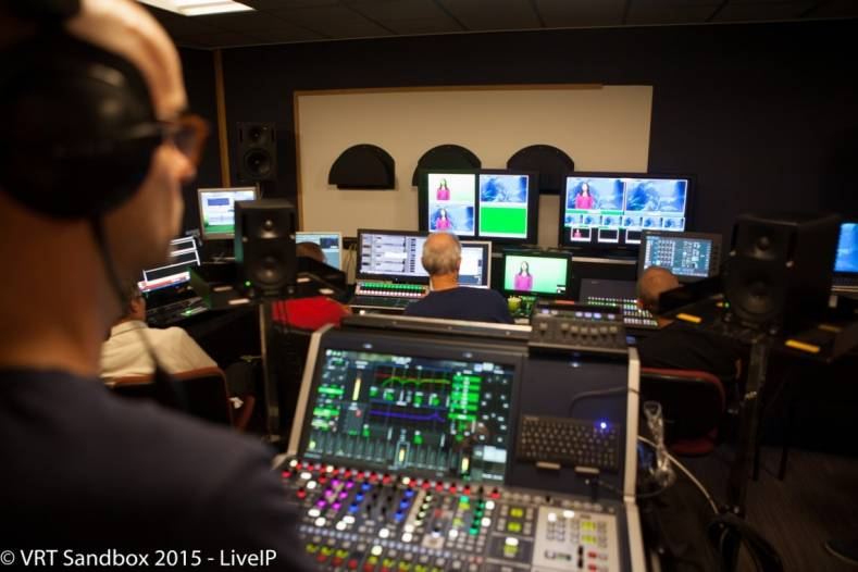 The LiveIP Project is a collaboration between the VRT, the EBU and a ten broadcast technology companies. Image courtesy Sandbox.vrt.be.