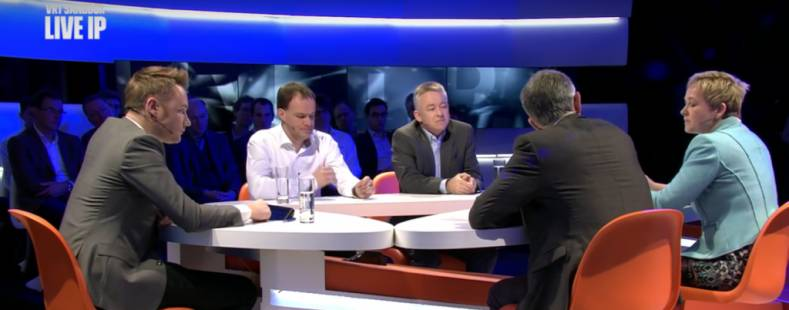 VRT used the LiveIP project facilities to air a live multi-camera debate in March 2016.