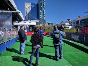 Spectrum congestion ramps up in the days leading to Super Bowl LI. Photo courtesy LiveU.