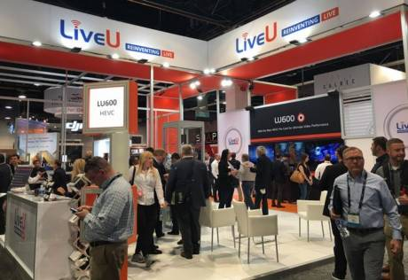 The 2018 NAB Show LiveU exhibit will include a live studio, streaming to an Arizona home studio for live-stream switching and graphics.
