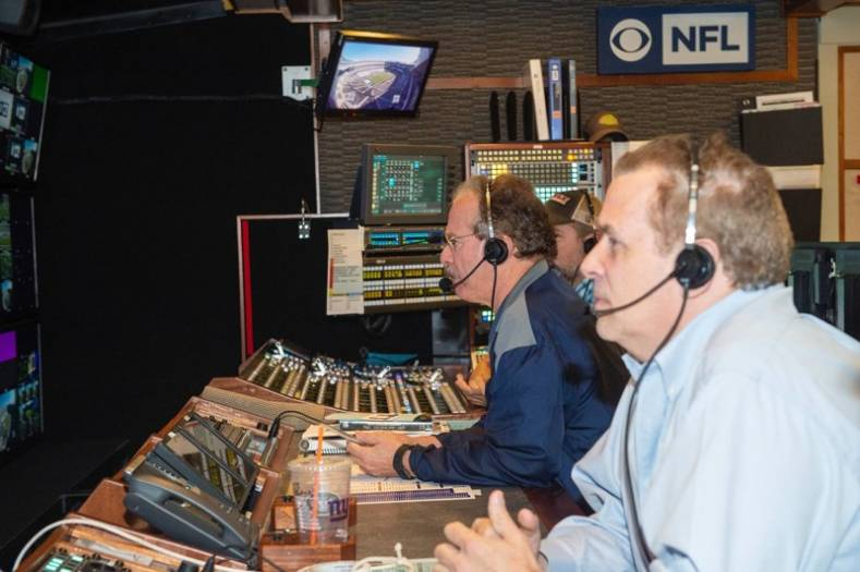 CBS lead NFL director Mike Arnold (left) will direct the AFC Championship game and Super Bowl LII for CBS Sports. (Photo: CBS Sports).