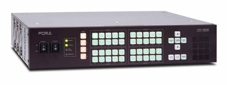 FOR-A's MV-4200 multi-viewer offers customizable layouts and is ideal for productions with mixed signal environments.