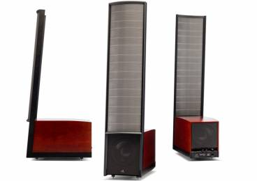 MartinLogan Expression ESL 13A hybrid electrostatic speakers.