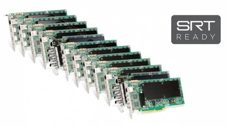 The complete range of Matrox Mura IPX capture, video wall, and multiviewer cards are now SRT ready.