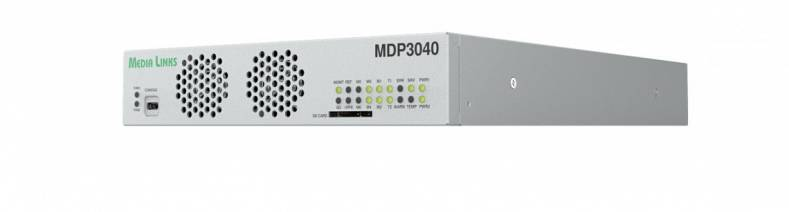 The MDP3040 is a multi-channel 4K/UHD encoder/decoder with TICO lightweight compression supporting several configurations.