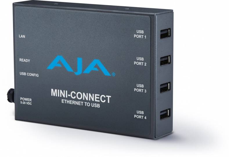 AJA's Mini-Connect with four USB ports.