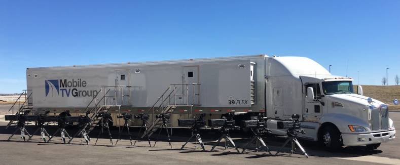 MTVG mobile production truck 39 Flex supports UHD HDR with AJA conversion products.
