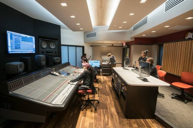 The new production control room for students at Montgomery County Community College, designed by WSDG, relies on Genelec monitors.