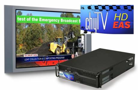 The new ChyTV HD-EAS can lower the cost of creating multichannel, SD/HD EAS displays using simple crawls.
